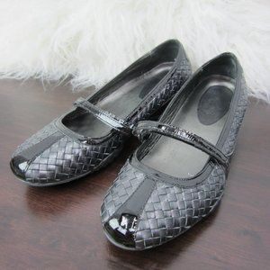 Cole Haan Nike Air Black Leather Flats Size 9